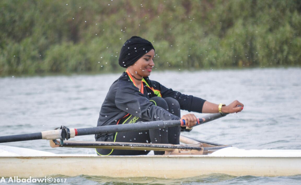 المجدفة إسراء  خوجلي تمثل السودان في أولمبياد طوكيو